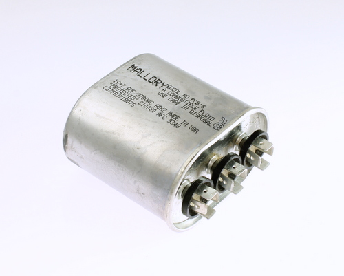 Picture of C37FD3715075 Mallory capacitor 15uF 375V Application Motor Start