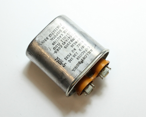 Picture of 32NB2305 MALLORY capacitor 5uF 236V Application Motor Run