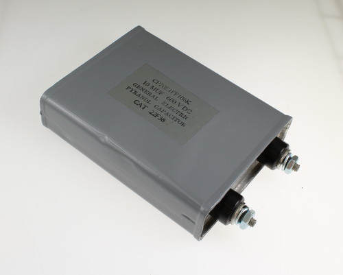 Picture of CP70E1FF106K GENERAL ELECTRIC capacitor 10uF 600V OIL Hermetically Sealed Radial