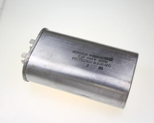 Picture of P42G6606E22 Aerovox capacitor 6uF 660V Application Motor Run