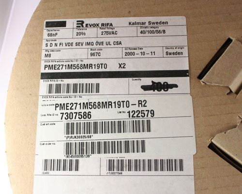 Picture of PME271M568MR19T0-R2 EVOX capacitor 0.068uF 275V Film Radial