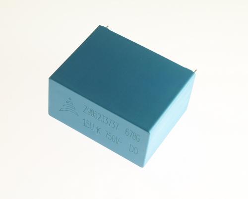 Picture of B32678G1156K Epcos capacitor 15uF 750V Film Metallized Polypropylene Radial