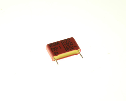 Picture of FKP1002204B00JSSD WIMA capacitor 220pF 1600V Film polypropylene Radial