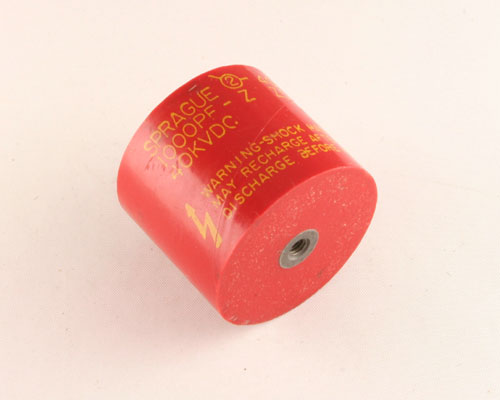 Picture of 40DKD10 SPRAGUE capacitor 0.001uF 40000V Ceramic Transmitting