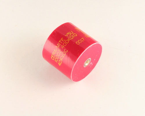 Picture of 40DKD10 SPRAGUE capacitor 0.001uF 40000V Ceramic Transmitting