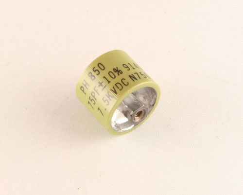Picture of 850S-75N PHILIPS capacitor 75pF 5000V Ceramic Transmitting