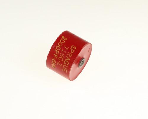 Picture of 715C6DK20 SPRAGUE capacitor 0.002uF 6000V Ceramic Transmitting