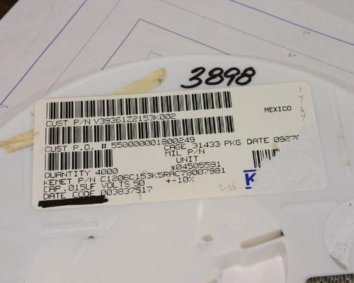 Picture of C1206C153K5RAC KEMET capacitor 0.015uF 50V Ceramic Surface Mount