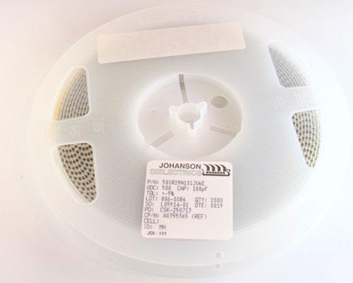 Picture of 501R29N101JV6E JOHANSON capacitor 100pF 500V ceramic surface mount