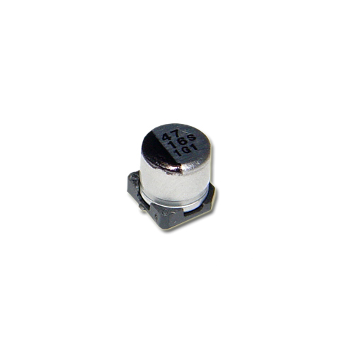 Picture of AVS476M16C12T CDE capacitor 47uF 16V Aluminum Electrolytic Surface Mount