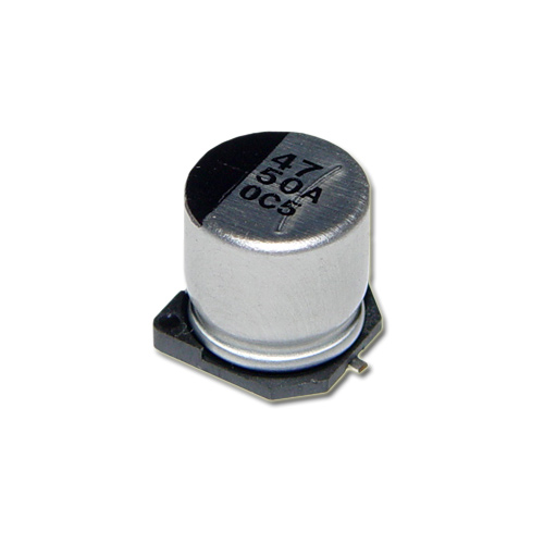 Picture of AVS476M50G24T CDE capacitor 47uF 50V Aluminum Electrolytic Surface Mount