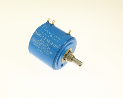 Picture of 3400S-1-202 Bourns potentiometer 2 kOhm, 5W Multiturn