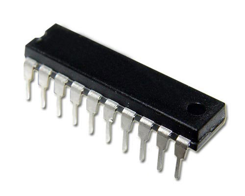 Picture of ic digital logic semiconductors.