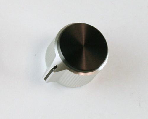 KPN900B1//4 Pack of 2 KPN900B1//4 6.35 mm Aluminium Knob Straight Knurled with Bar Pointer and Indicator Line Round Shaft