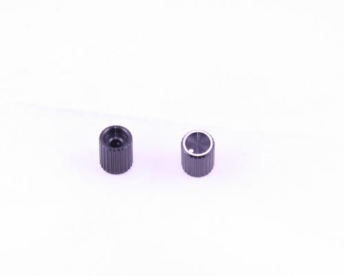 "Picture of KU4025B 1/8"" ALCO knob aluminum Knurled"