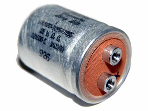 Picture of 181630-L INDUSTRIAL CONDENSOR capacitor 500uF 25V Aluminum Electrolytic Large Can Computer Grade
