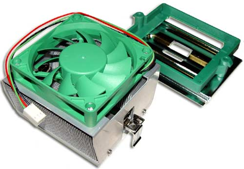 Image of a computer CPU fan assembly