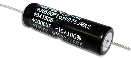 Picture of 3050GP102V075JMA2 PHILIPS capacitor 1,000uF 75V Aluminum Electrolytic Axial