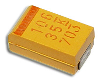 Picture of T491D106K035AS KEMET capacitor 10uF 35V Tantalum Surface Mount