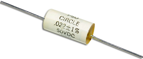 Picture of 002250V CIRCLE capacitor 0.022uF 50V Film Polyester Axial