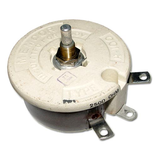 Picture of 5905-018-3170 byab potentiometer 2.5 kOhm, 100W rheostat 100 Watt