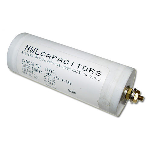 Picture of 11643 NWL capacitor 0.25uF 5000V Application Motor Run