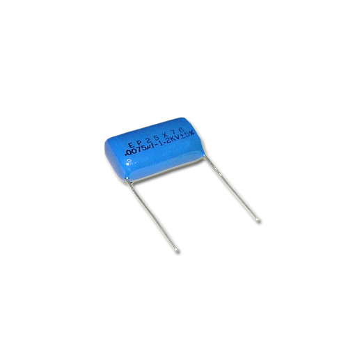 Picture of EP25X76 BYAB capacitor 0.0075uF 1200V Film Polyester Radial