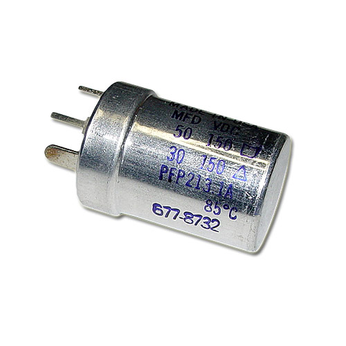 Picture of PFP-213.1 MALLORY capacitor 50uF 150V Aluminum Electrolytic Large Can Twist Lock