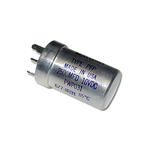 Picture of PWP-031 MALLORY capacitor 2,500uF 10V Aluminum Electrolytic Large Can Twist Lock