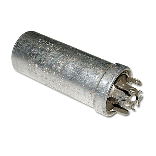 Picture of D25013 SPRAGUE capacitor 10uF 450V Aluminum Electrolytic Large Can Twist Lock