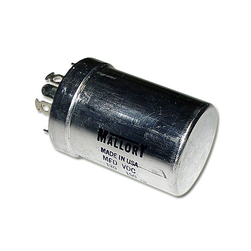 Picture of FP311.85A MALLORY capacitor 120uF 150V Aluminum Electrolytic Large Can Twist Lock