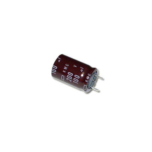 Picture of 1-107-955-51 UNITED CHEMICON capacitor 100uF 200V Aluminum Electrolytic Radial High Temp