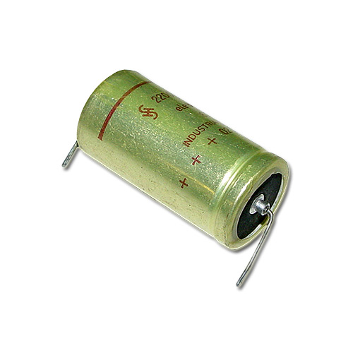 Picture of 2200MFD-25V IB capacitor 2,200uF 25V Aluminum Electrolytic Axial