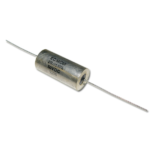 Picture of ECM C62 ECM capacitor 20uF 50V Oil Hermetically Sealed Axial