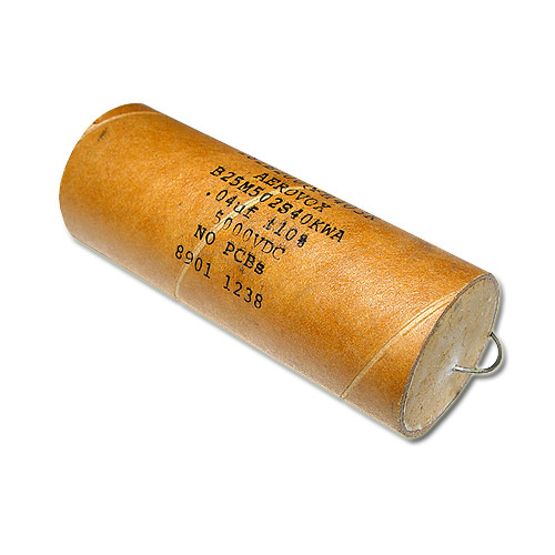 Picture of B25M502S40KWA AEROVOX capacitor 0.04uF 5000V Film Polyester Axial