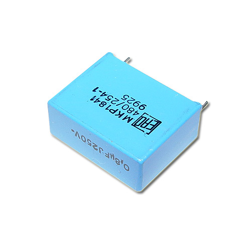 Picture of 1841-480/2541 VISHAY capacitor 0.8uF 250V Film Metallized Polypropylene Radial