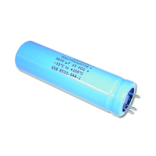 Picture of 300JT562U025B SANGAMO capacitor 5,600uF 25V Aluminum Electrolytic Radial High Temp