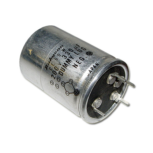 Picture of 200VLA330M RUBYCON capacitor 330uF 200V Aluminum Electrolytic Snap In