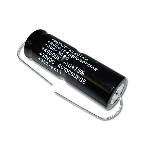 Picture of 3050JS402U030PMA2 PHILIPS capacitor 4,000uF 30V Aluminum Electrolytic Axial
