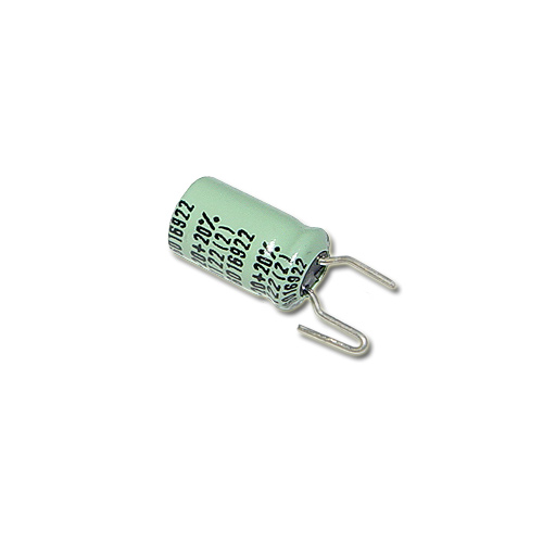 Picture of RE15MFD-16V DELCO capacitor 15uF 16V Aluminum Electrolytic Radial