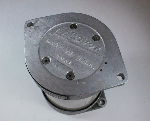 Picture of 1980-221 AEROVOX capacitor 0.005uF 20000V Silver Mica Transmitting