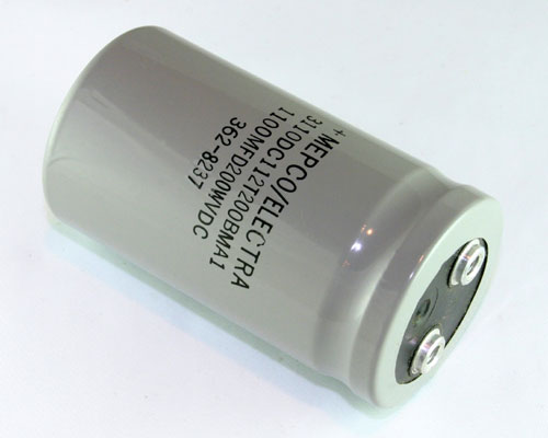 Picture of 1100MFD200WVDC PHILIPS capacitor 1,100uF 200V Aluminum Electrolytic Large Can Computer Grade