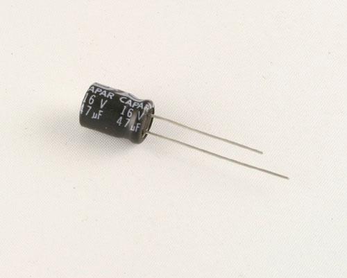 Picture of CRE5910-0611 CAPAR capacitor 47uF 16V Aluminum Electrolytic Radial