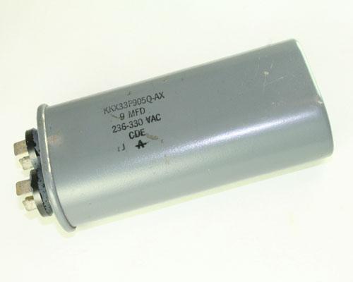 Picture of KKX33P905Q-AX Cornell Dubilier (CDE) capacitor 9uF 330V Application Motor Run