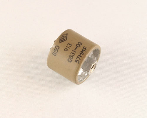 Picture of 850-57 PHILIPS capacitor 57pF 5000V Ceramic Transmitting