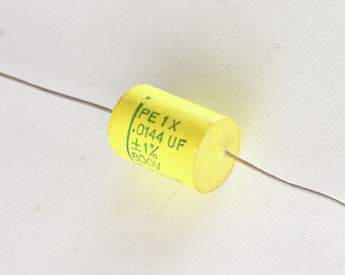 Picture of PE1X-.0144-800-1 F-DYNE capacitor 0.0144uF 800V Film Polyester Axial