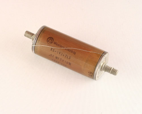 Picture of 205P74A SPRAGUE capacitor 0.02uF 4000V Glass Axial