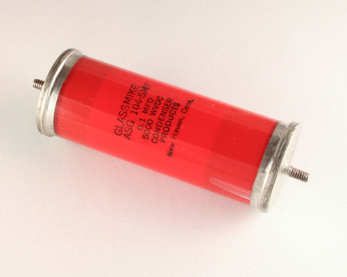 Picture of ASG-104-5MF GLASSMIKE capacitor 0.1uF 5000V Glass Axial