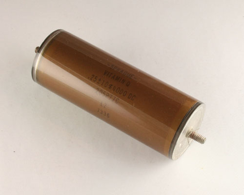 Picture of 205P77C SPRAGUE capacitor 0.25uF 4000V Glass Axial