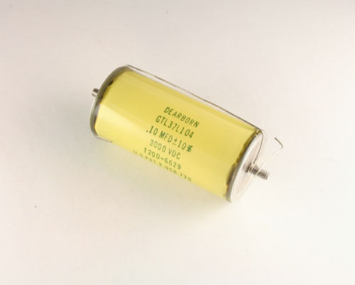 Picture of GTL37L104 DEARBORN ELECTRONICS capacitor 0.1uF 3000V Glass Axial